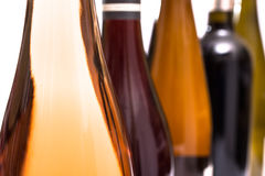 Bottle of rose wine at a wine test Royalty Free Stock Image