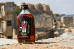 Bottle of rum Old Monk Royalty Free Stock Photo