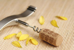 Bottle. And cork royalty free stock photo