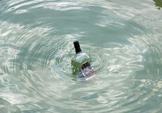 A bottle in the sea Stock Image