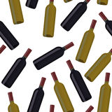 Bottle seamless pattern Royalty Free Stock Photography