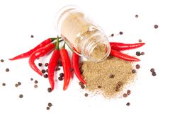 Bottle with seasonings Royalty Free Stock Photography