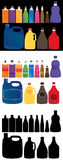 Bottle set color Royalty Free Stock Photos