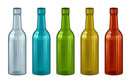 Bottle set Royalty Free Stock Images