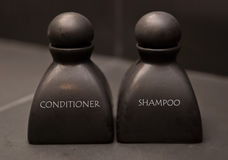 Bottle of shampoo and conditioner Stock Image
