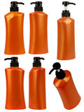 Bottle shampoo orange Stock Images