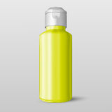 Bottle of shampoo packing with the ability to inject any glossy color, isolated on white background. EPS10. Bottle of shampoo packing with the ability to inject Royalty Free Stock Photos