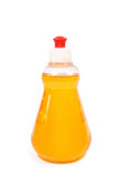 Bottle with shampoo on white Royalty Free Stock Photos