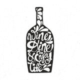 Bottle Shaped Quote Stock Image
