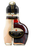 Bottle of Sheridan's liqueur isolated on white Stock Photo