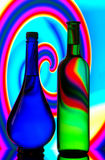 Bottle silhouettes Royalty Free Stock Images