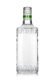Bottle of silver tequila Royalty Free Stock Photography