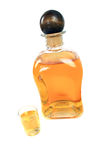 Bottle and small glass Royalty Free Stock Photo