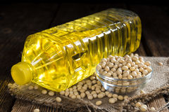 Bottle of Soy Oil Royalty Free Stock Image