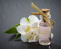 Bottle of Spa essential oils Stock Photo