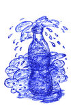 Bottle with Splash Royalty Free Stock Images