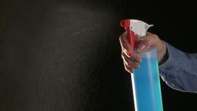 bottle spray stock video
