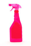 Pink spray cleaner bottle Royalty Free Stock Photo