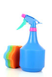 Bottle sprayer and sponge Royalty Free Stock Photography