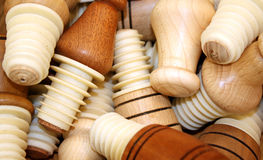 Bottle Stops. With wooden tops Stock Images