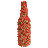 Bottle of strawberry Royalty Free Stock Photo