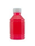 Bottle of strawberry juice Royalty Free Stock Photos