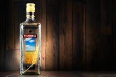 Bottle of Stumbras vodka Royalty Free Stock Images