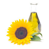 Bottle of sunflower oil Stock Photo