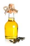 Bottle of sunflower oil Stock Image