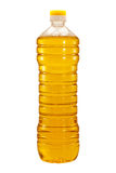 Bottle of sunflower oil isolated Stock Image