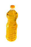 Bottle of sunflower oil isolated on white background Royalty Free Stock Photo