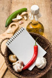 Bottle of sunflower oil and vegetables Stock Image