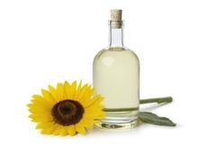Bottle of sunflower oil Stock Images