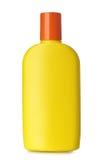 Bottle of sunscreen Stock Image