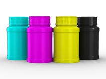Bottle for tablets. CMYK Royalty Free Stock Image