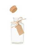 Bottle with tag Royalty Free Stock Images