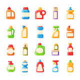 Bottle template blank package container collection flat vector illustration. Stock Photo