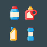 Bottle template blank package container vector Stock Image