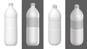 Bottle template. 3D render. Royalty Free Stock Photos