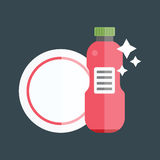 Bottle template tableware container vector Royalty Free Stock Photos