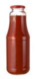 Bottle of tomato juice. Isolated on white Stock Photos