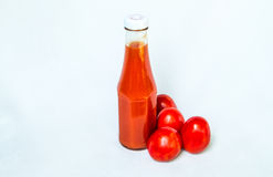 A bottle of tomato sauce Stock Image