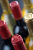 Bottle tops. Red and white wine bottles Royalty Free Stock Photo