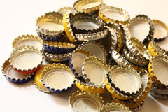 Bottle tops Stock Image