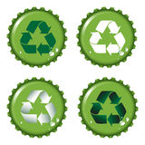 Bottle tops recycle Royalty Free Stock Images