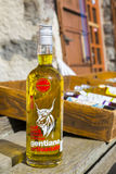 Bottle of Traditional French Gentian Liquor Royalty Free Stock Image