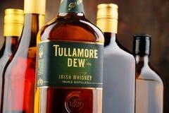 Bottle of Tullamore Dew, Irish whiskey Royalty Free Stock Photos