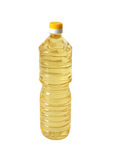 Bottle of vegetable oil. On a white background Royalty Free Stock Images