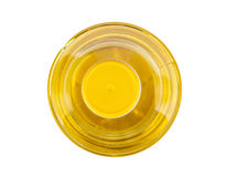 Bottle of vegetable oil, top view Stock Photo