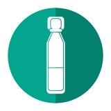 Bottle vials medical healthy shadow royalty free illustration